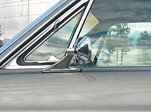 Vintage Style Chrome Rectangle Mirrors Classic Musclecar Hotrod Pair New