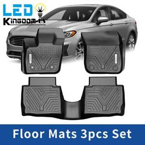 All Weather Floor Mats Liners For 2017 2020 Ford Fusion Lincoln Mkz Black Set