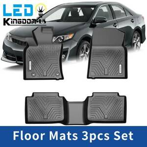 All Weather Floor Mats Liners For 2018 2019 2020 Toyota Camry Black 3pcs Set