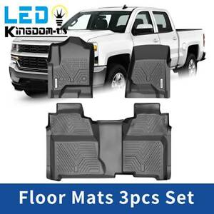 All Weather Floor Mats Liners For Chevy Silverado Gmc Sierra 1500 Crew Cab Set