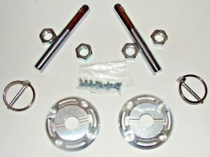 1964 2004 Mustang Chevy Ford Billet Aluminum Racing Hood Pins Kit