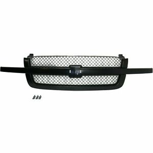 Grille Assembly Paint To Match Black Gray For Chevrolet Silverado 1500 19168630