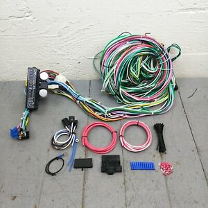 1931 38 Chevy Wiring Harness 12v Conversion Kit 15 Fuse Terminal Standard V8 350