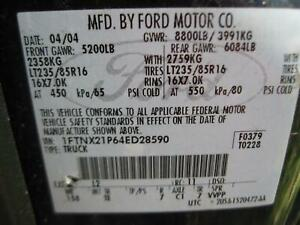 04 F350 Zf 6 Speed Diesel Transmission C over Fits 03 07 Ford F250sd Pickup