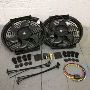1964 66 Gm A body Dual 10 1019 Cfm Cooling Fan Fixed Temp Switch Kit Ss 389 400