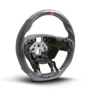 Handkraftd Real Carbon Fiber leather red Stitch Steering Wheel 2015 Ford F150