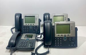 Lot Of 4 Cisco Office Phones One Spa525g Three Cp 7941g Nice
