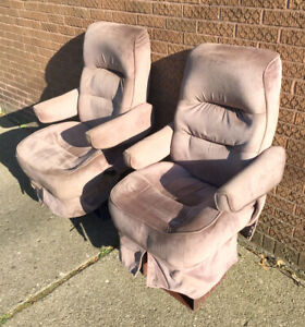 1994 Ford Tiara Van Pair Used Pink Cloth Front Seats Captain Chairs Chevy Dodge