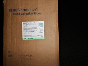 Bd 367960 Vacutainer Blood Collection Tubes 3ml 1case 10x100 1000pcs 7 2020