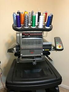 Melco Amaya Xt Embroidery Machine With Stand Many Accessories