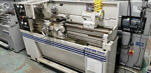 Used Acra turn 1340v Variable Speed Engine Lathe Manual Turning Center Sony Dro