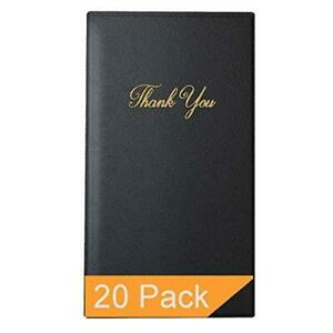 Restaurant Check Presenters Guest Check Card Holder With Gold Thank You