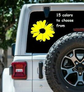 8 Sizes Daisy Flower Car Window Decal Sticker Daisy Macbook Laptop Sticker