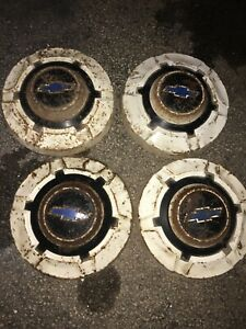 Set Of 4 1969 76 Chevy Chevrolet Pickup Truck Van Painted Dog Dish Hubcaps 12