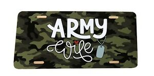 Army Wife License Plate Army Wife Car Tag New