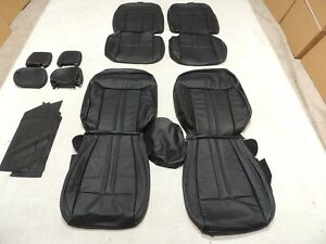 Leather Seats Upholstery Fits Ford Ranger Super Cab Xlt Black 2019 2020 L10