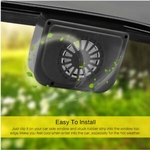 Universal Car Truck Solar Power Exhaust Interior Ventilation Auto Cooling Fan Us