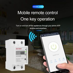 Digital Electric Consumption Kwh Din Rail Smart Energy Meter Wifi Power Me V3s0
