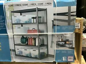 5 shelf Storage Rack Adjustable Steel Storage For Garage Office Charcoal