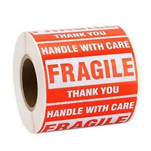 Mflabel 1 Roll Fragile Tapes 2 x3 Handle With Care Stickers 500 Roll Thank