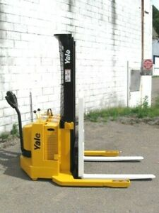 Yale Msw030 Electric Walkie Stacker Forklift Truck 12v 2800 Cap 126 Lift
