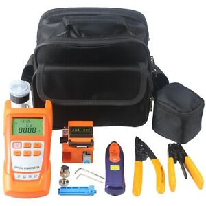 Fiber Optic Ftth Tools Kit With Fiber Cleaver And Optical Power Meter 5km A6t8