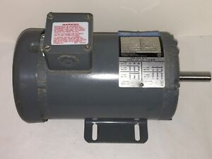 Rockwell 3 4 Hp Electric Motor 1725 Rpm 3 Phase For Lathe