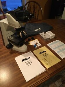 Nikon Eclipse 50i Microscope W Nikon Plan 4x 10x 40x 100x Objectives