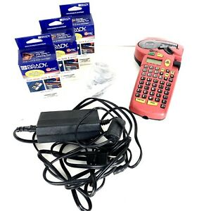 Brady Id Pal Label Maker for Parts Ac Adapter 4 New Pal 750 439 Cartridges 974