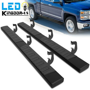 Running Boards For 07 18 Silverado Sierra 1500 Double Extended Cab 6 Step Bars