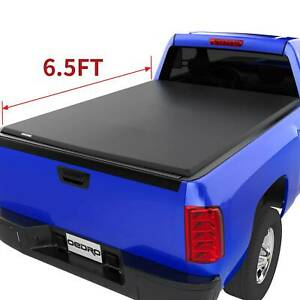 Oedro 6 5 Soft Roll Up Truck Bed Tonneau Cover For 2014 2018 Silverado Sierra