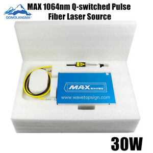 Max 30w 1064nm Q switched Pulse Fiber Laser Source For Laser Marking Machine