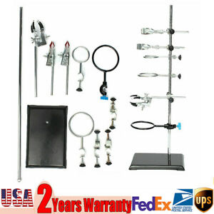 Iron Laboratory Stands Support And Lab Clamp Flask Clamp Condenser Clamp Stands