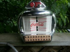 Coca Cola Brand Cookie Jar, Silver Juke Box By Gibson Vintage 2000