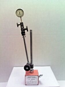 Starrett 001 Dial Indicator No 196 With Sears Craftsman Magnetic Base No 389