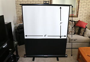 Portable Projection Screen Draper Piper great Condi read Info