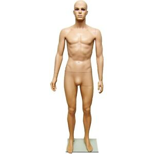 Mn 251a Fleshtone Plastic Male Full Size Mannequin Removable Realistic Head g2