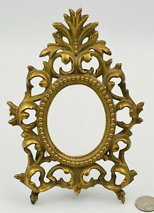 Antique Picture Frame Victorian Gold Ornate 102 Oval Beaded Border 7 5