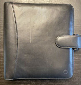 Franklin Covey Binder Classic 5 Ring Black Leather