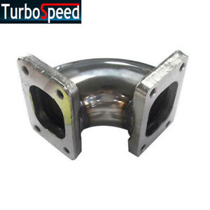 90 Degree Turbocharger Flange Conversion Adapter T2 To T2 4 bolt Stainless Steel