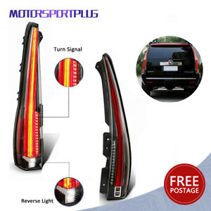 Led Tail Lights Fit 2007 2014 Cadillac Escalade Esv Red Rear Lamp 2016 Version