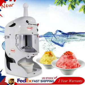 Commercial Ice Shaver Machine Snow Cone Maker Electric Crusher Shaving 110v Usa