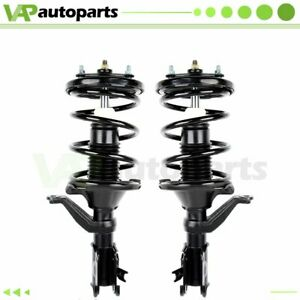 For 01 05 Honda Civic Ready Front 2 Strut Shock Absorber Coil Springs Mounts