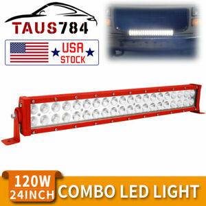 22inch 120w Led Work Light Bar Spot Flood Combo Offroad Pickup Truck Ute 4wd 24