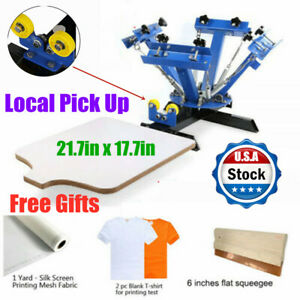 Local Pick Up 4 Color 1 Station Screen Printing Press Diy T shirt Press Printer