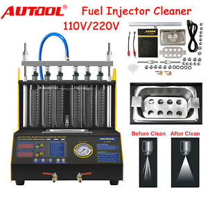 Ct200 6 Cylinders Car Fuel Injector Cleaning Machine Ultrasonic Cleaner Tester