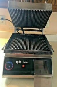 Star Pro Max Cg14 Commercial Grooved Sandwich Grill Panini Press
