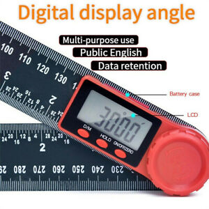 360 Digital Angle Finder Ruler 8 Protractor 200mm Stainless Steel Angle Gauge