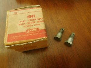Plymouth Front Seat Bolts 1946 1947 1948 Back Center Hinge Bolt Mopar Two