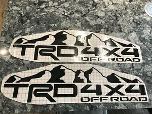 2 Qty Toyota Tacoma tundra Trd Vinyl Matte Black Bed Decal Graphics Off Road 4x4